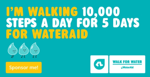 I'm walking 10,000 steps a day for 5 days for WaterAid