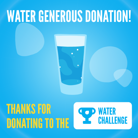 Water Generous Donation - Glass