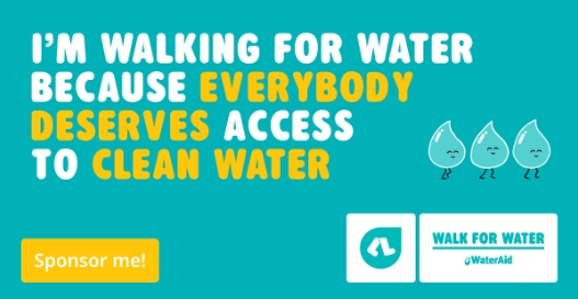 I'm walking for water because everybody deserves access to clean water (tile)
