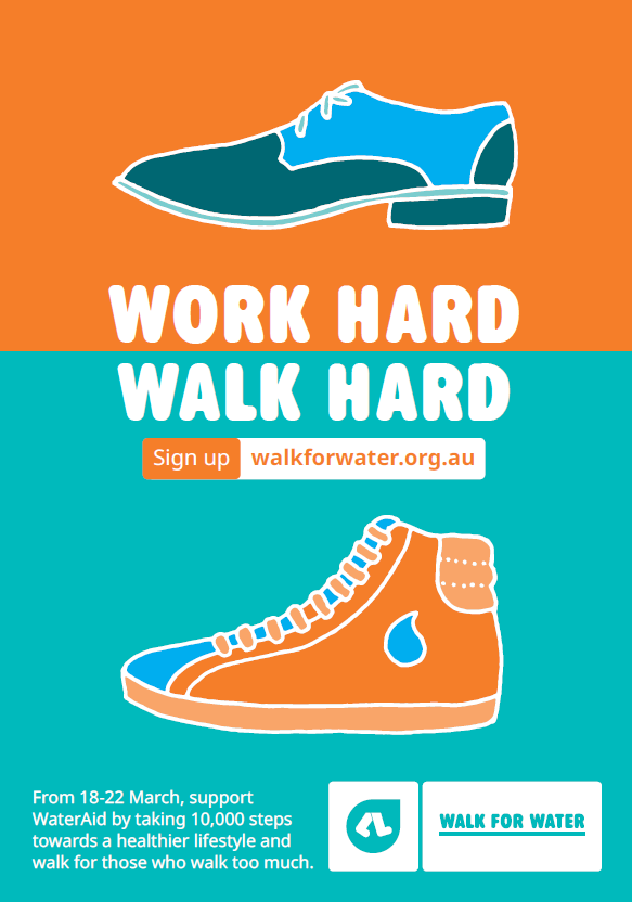 Walk for Water  Poster 2019